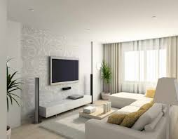 Modern White Living Room Furniture Living Room Gray Sofa Black Console Table Brown Ceiling Fans