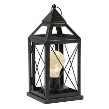 Circleware Lantern Metal Cage Style Desk Table Or Hanging Lamp Cordless Accent Light With Led Bulb 1025 High