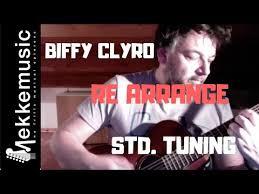 biffy clyro re arrange guitar tutorial standard tuning