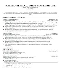 Warehouse Objective Resume Easy Warehouse Manager Resume Cover Letter Examples for Your 27