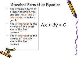 standard form of linear equation