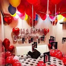 surprise birthday room decoration in