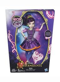 Disney Descendants Neon Lights Dolls Shop Disney Descendants Neon Lights Feature Mal Of Isle Of The Lost Doll Online In Dubai Abu Dhabi And All Uae