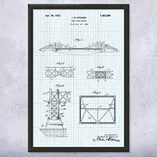 Amazon Com Framed Golden Gate Bridge Print Architect Gift
