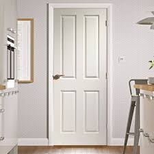 Simple 4 Panel White Interior Doors Door With Woodgrained Surfaces Is On Ideas