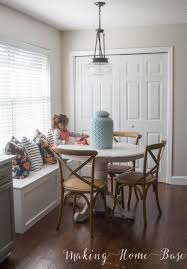 here s a glance of our breakfast area a sneak k at the window seat we just built more on that soon do you have a go to neutral you love