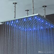 2018 bathroom rainfall big shower heads 40 inch led light showerhead mounted ceiling showers 31 inch square rain shower brushed from setsail411