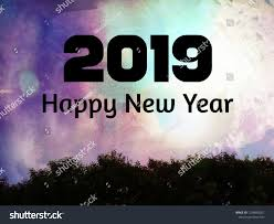 Happy New Year 2019 Colorful Design Stock Photo Edit Now 1238860051
