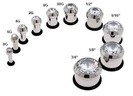 Gauge Size Chart Im Think 9 16 Or 5 8 Gauges Piercing