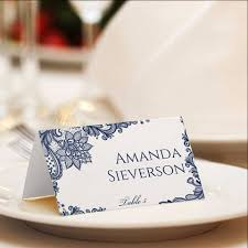 Fold Over Place Cards Ornate Lace Navy Foldover Place Card Template Navy Lace
