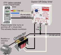 how to wire dayton off delay timer substitute battery operated timer for push button switch