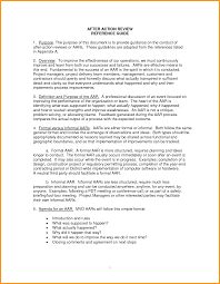 After Action Review Template AFTER ACTION REVIEW TEMPLATE Letter Format Mail 10