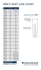 511 Tdu Pants Size Chart Propper Mens Summerweight Tactical Pant