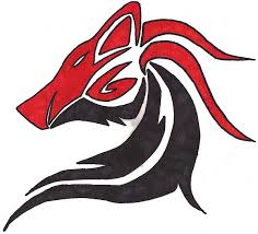 red and black wolf with wings. Modren Red To Red And Black Wolf With Wings N