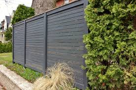 Exterior:Modern Design Bamboo Privacy Fence Ideas Black Wood Fence Design  To Confine Your Backyard