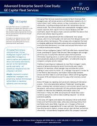 ge capital customer services attivio customer success story ge capital fleet services search d