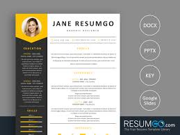 Medeia Gray And Yellow Resume Template Resumgocom