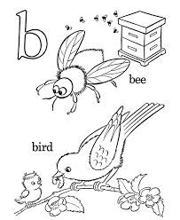 Alphabet Coloring Pages B For Bird | Alphabet Coloring pages of ...