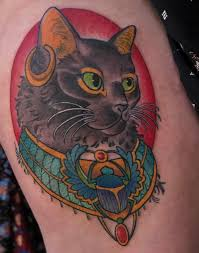 A Portrait Of My Cat As Bastet From Betty Rose At Golden Age Tattoos