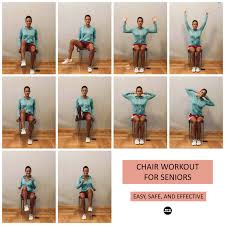 Chair Gym Exercise Chart Chair Workout 5 Safe Exercises For Seniors Center For