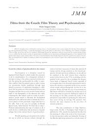 films from the couch film theory and psychoanalysis pdf  films from the couch film theory and psychoanalysis pdf available