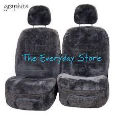 genuine sheepskin car seat covers for toyota prado 120 03 09 pr 22mm airbag safe