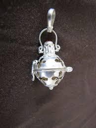 handmade silver harmony ball pendant