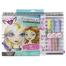 Fashion Angels Makeup And Hair Design Sketch Portfolio Buy Fashion Angels Make Up Artist Sketch Portfolio Set