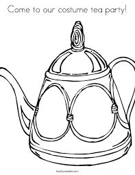 Small Picture Come to our costume tea party Coloring Page Twisty Noodle