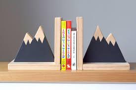mountain peak bookends woodland nursery decor modern
