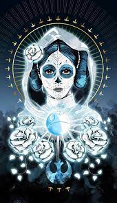 Looking for the artist that made this beautiful Day of the Dead Leia art! I  want to talk to you! : StarWars