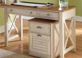 the typical of pine wood classic home office furniture of rustic white wooden desk designed