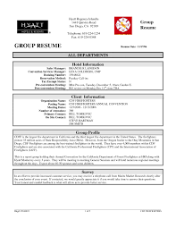 Sample Hotel Resume Professional Group All Departments Hotel Sales Manager Sample Resume 31
