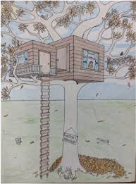 how to draw a treehouse step by step.  Draw Picture In How To Draw A Treehouse Step By
