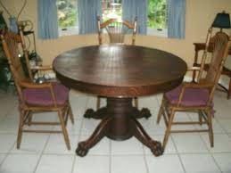 oak pedestal dining table value of antique tiger claw my furniture collection round