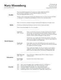 Simple Resume Template Free Simple Resume Template Images Basic ...