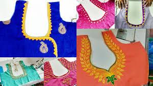 Double Colour Blouse Back Neck Designs 21 Blouse Designs Images 2019 Blouse Back Neck Designs Photos