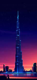1242x2688 Dubai Burj Khalifa Minimalist ...