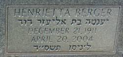 Henrietta Berger (Wasserzug) (1911 - 2004) - Genealogy