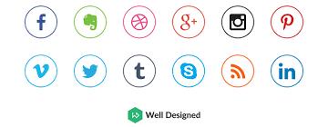 round social media icon. Delighful Round 18 UltraClean Circular Social Media Icons With Round Icon 2