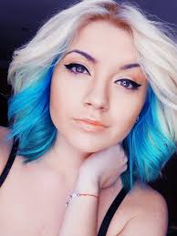 Blonde And Blue Ombre Hair Idea Dyed Hair Pastel Hair