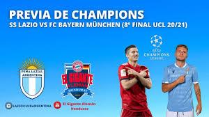 Previa de Champions League: SS LAZIO vs Bayern (Octavos de Final Ida) -  YouTube