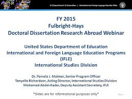 Fulbright Hays Doctoral Dissertation Research Abroad Program