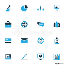 Unity Pie Chart Business Colorful Icons Set Collection Of Badge Bank Card
