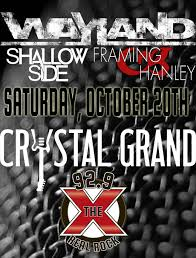 wayland along with shallow side and framing hanley are taking over crystal grand theatre on saay october 20th here for tickets