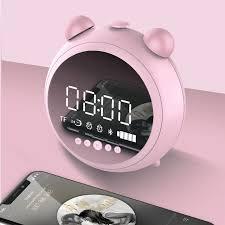 JKR <b>HD Mirror Alarm Clock</b> Speaker Mini Candy Color Soundbass ...