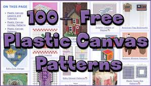 Free Plastic Canvas Christmas Patterns Adorable More And Better Free Plastic Canvas Patterns AllCrafts Free Crafts