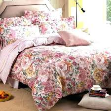romantic pink flower duvet covers large size of fl queen