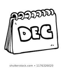 Cartoon Doodle Calendar Showing Month December Stock Illustration