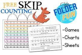 Skip Counting By 16 Chart Skip Counting Chart Worksheets File Folder Fun
